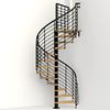 Arke Oak Xtra 63-in x 10-ft Black Spiral Staircase Kit