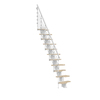 Arke Oak 30.Xtra 5-ft White Painted Powder-Coated Steel Stair Railing Kit