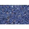 Exotic Glass Cobalt Blue Reflective Tempered Glass Gas Fire Pit
