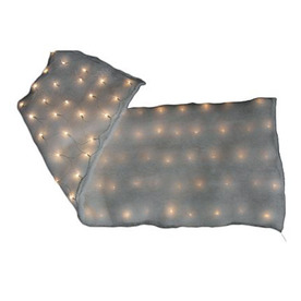 Brilliant 60&#034; x 15&#034; Pre-Lit Snow Blanket
