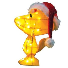 Peanuts 1.54-ft Tinsel Peanuts Woodstock Christmas