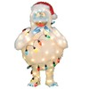 Lighted Outdoor Christmas Decoration with White Lights