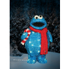 Sesame Workshop 1.54-ft Tinsel Sesame Street Cookie Monster Christmas