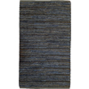 Style Selections 24-in x 36-in Rectangular Blue Transitional Accent Rug