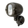 Mr Beams Netbright 180-Degree 1-Head Brown LED Motion-Activated Flood Light