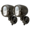 Mr Beams 180° 2-Head Brown Led Motion-Activated Flood Light