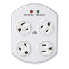 360 Electrical 4-Outlet Rotating Plug-In Adapter with Surge Protector