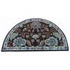 allen + roth Semicircular Indoor Tufted Throw Rug (Common: 2 x 3; Actual: 24-in W x 40-in L)