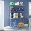 Style Selections 5-ft 11.77-in H x 3-ft 11.79-in W x 1-ft 6-in D 4-Tier Steel Freestanding Shelving Unit