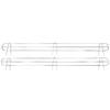 Home Storage Space Chrome Wire Add-On 2-Shelf Kit