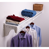 EZ Shelf 2.33-ft to 4.08-ft White Adjustable Mount Wire Shelving Kit