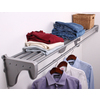 EZ Shelf 3.33-ft to 6.17-ft Silver Adjustable Mount Wire Shelving Kits
