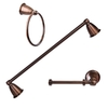 ARISTA 3-Piece Northland Oil-Rubbed Bronze Decorative Bathroom Hardware Set