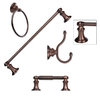 ARISTA 4-Piece Highlander Oil-Rubbed Bronze Decorative Bathroom Hardware Set
