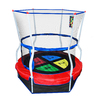 Skywalker Skywalker 4-ft Round Multicolor Kids Trampoline with Enclosure