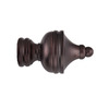 allen + roth 2-Pack Oil Rubbed Bronze Curtain Rod Finials