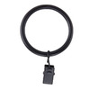 allen + roth 10-Pack Matte Black Curtain Rings