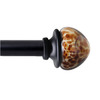 allen + roth 72-in to 144-in Aged Bronze Metal Single Curtain Rod