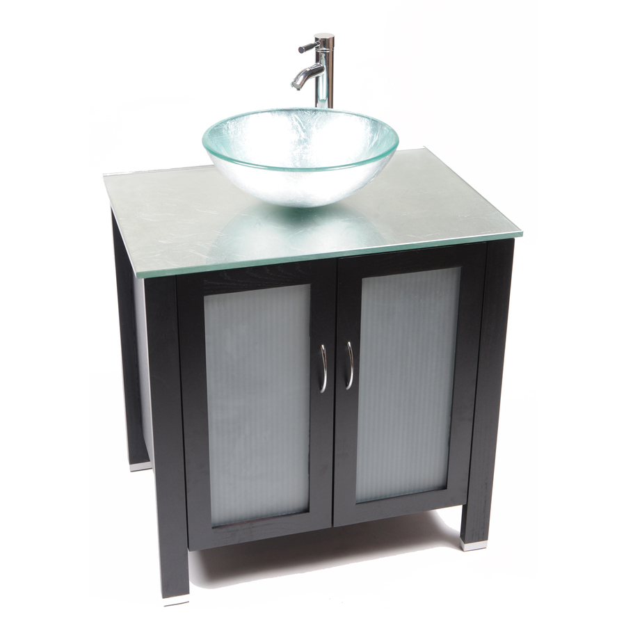 Shop bionic cappuccino 31 in x 22 in light bamboo single for Bathroom vanities with sinks included