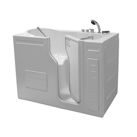 Northeastern Bath Northeastern Bath Acrylic Rectangular Alcove Bathtub with Right-Hand Drain (Common: 30-in x 51-in; Actual: 42-in x 29.5-in x 51-in)