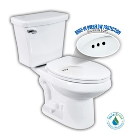 Penguin Toilets White 1.28-GPF (4.85-LPF) 12-in Rough-in WaterSense Elongated 2-Piece Comfort Height Toilet