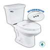 Penguin Toilets White 1.28 GPF High Efficiency WaterSense Elongated 2-Piece Toilet with Overflow Protection