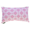 Majestic Home Goods 12-in W x 20-in L Soft Pink Rectangular Indoor Decorative Complete Pillow