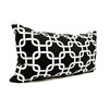 Majestic Home Goods 12-in W x 20-in L Black Rectangular Accent Pillow