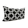 Majestic Home Goods 12-in W x 20-in L Black Rectangular Indoor Decorative Complete Pillow
