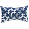 Majestic Home Goods 12-in W x 20-in L Navy Blue Rectangular Indoor Decorative Complete Pillow