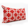 Majestic Home Goods 12-in W x 20-in L Red Rectangular Indoor Decorative Complete Pillow