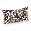 Majestic Home Goods 12-in W x 20-in L Chocolate Rectangular Accent Pillow