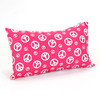 Majestic Home Goods 12-in W x 20-in L Hot Pink Rectangular Indoor Decorative Complete Pillow
