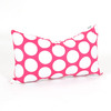Majestic Home Goods 12-in W x 20-in L Hot Pink Rectangular Accent Pillow