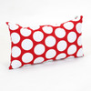 Majestic Home Goods 12-in W x 20-in L Red Hot Rectangular Accent Pillow