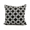 Majestic Home Goods 20-in W x 20-in L Black Square Indoor Decorative Complete Pillow