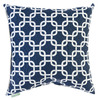 Majestic Home Goods 20-in W x 20-in L Navy Blue Square Indoor Decorative Complete Pillow