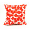 Majestic Home Goods 20-in W x 20-in L Red Square Indoor Decorative Complete Pillow
