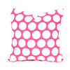 Majestic Home Goods 20-in W x 20-in L Hot Pink Square Accent Pillow