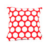 Majestic Home Goods 20-in W x 20-in L Red Hot Square Indoor Decorative Complete Pillow