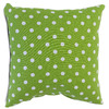 Majestic Home Goods 20-in W x 20-in L Lime Square Indoor Decorative Complete Pillow