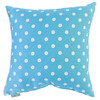 Majestic Home Goods 20-in W x 20-in L Aquamarine Square Indoor Decorative Complete Pillow