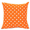 Majestic Home Goods 20-in W x 20-in L Tangerine Square Accent Pillow