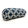 Majestic Home Goods 8-in W x 18.5-in L Navy Blue Oblong Indoor Decorative Complete Pillow
