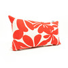 Majestic Home Goods Red Plantation Floral Rectangular Outdoor Decorative Pillow