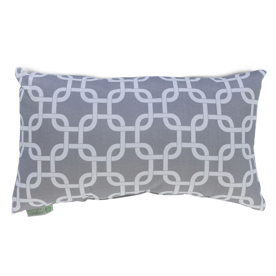 Throw Pillows At Home Goods : Shop Majestic Home Goods Gray Links UV-Protected Rectangular Outdoor Decorative Pillow at Lowes.com