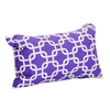 Majestic Home Goods 12-in W x 20-in L Purple Rectangular Indoor Decorative Complete Pillow