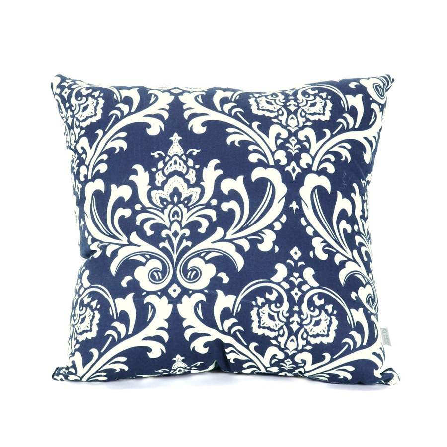 Decorative Pillows Navy : Shop Majestic Home Goods Navy Blue French Quarter UV-Protected Square Outdoor Decorative Pillow ...