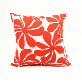 Shop Majestic Home Goods Red Plantation UV-Protected Square Outdoor Decorative Pillow at Lowes.com