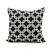 Majestic Home Goods Black Links Geometric Square Outdoor Decorative Pillow